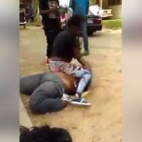 Drama as Slim Wife Beats the Hell Out of Her Husband's Fat Side chick in Public (Video)
