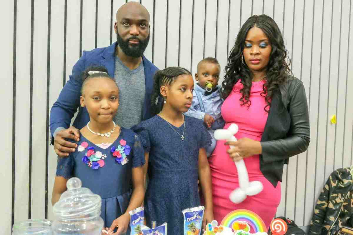 Gboyega Ayoade and Tanja Mettendaf Celebrate Their Son Zaeem 1st Birthday In London.