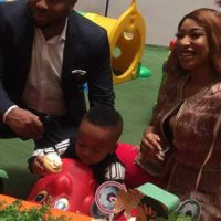TONTO DIKEH AND ESTRANGED HUSBAND, OLAKUNLE CHURCHILL CELEBRATE SON'S SECOND BIRTHDAY