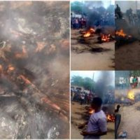 Motorcycle thief burnt to death in Uyo