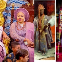 Alaafin of Oyo's wife calls him her ancestor, shares throwback photo