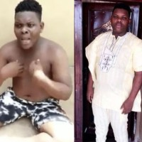 Abeokuta big boy 'Sdj Teeman'  caught with used sanitary pads and pants