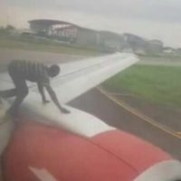 Lagos Airport: Panic as man climbs Azman Air aircraft
